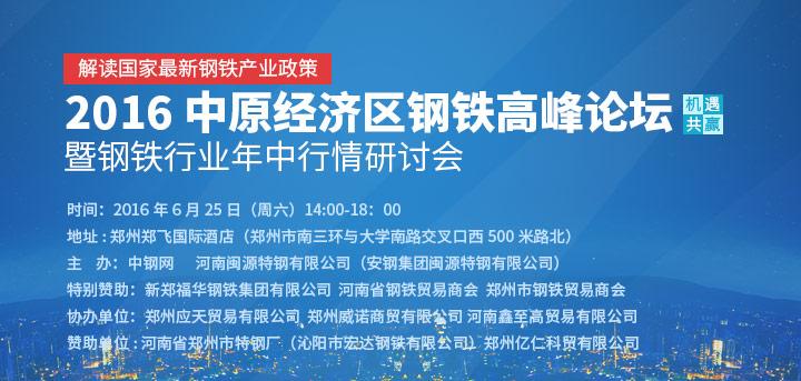 2016中原经济区钢铁高峰论坛